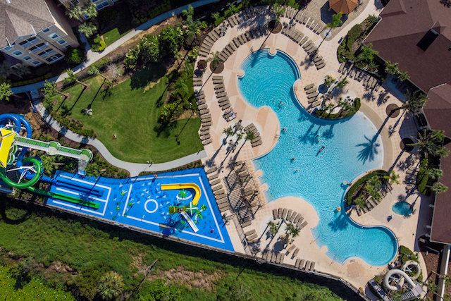 Water parks for kids of all ages at my disney condo windsor hills for Windsor swimming pool with slides
